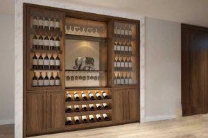 Tủ gỗ đựng rượu giá rẻ