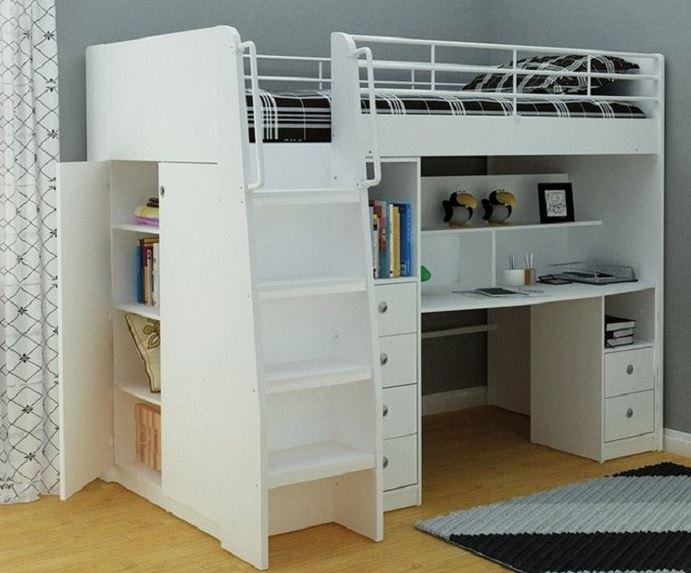 giường tầng kèm bàn học cho bé