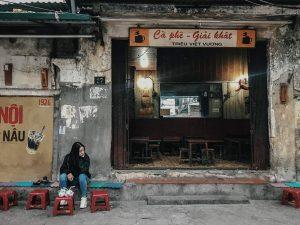 trang trí quán cà phê vintage
