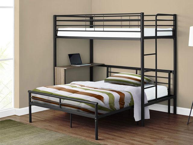 giường tầng sắt có bàn học