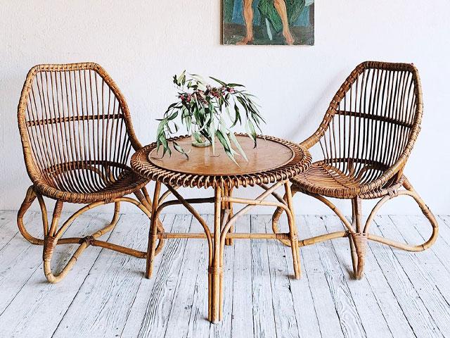 Bàn ghế từ tre