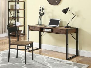 bàn chân sắt mặt gỗ văn phòng