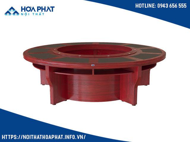 Bàn họp tròn bằng gỗ CT2600