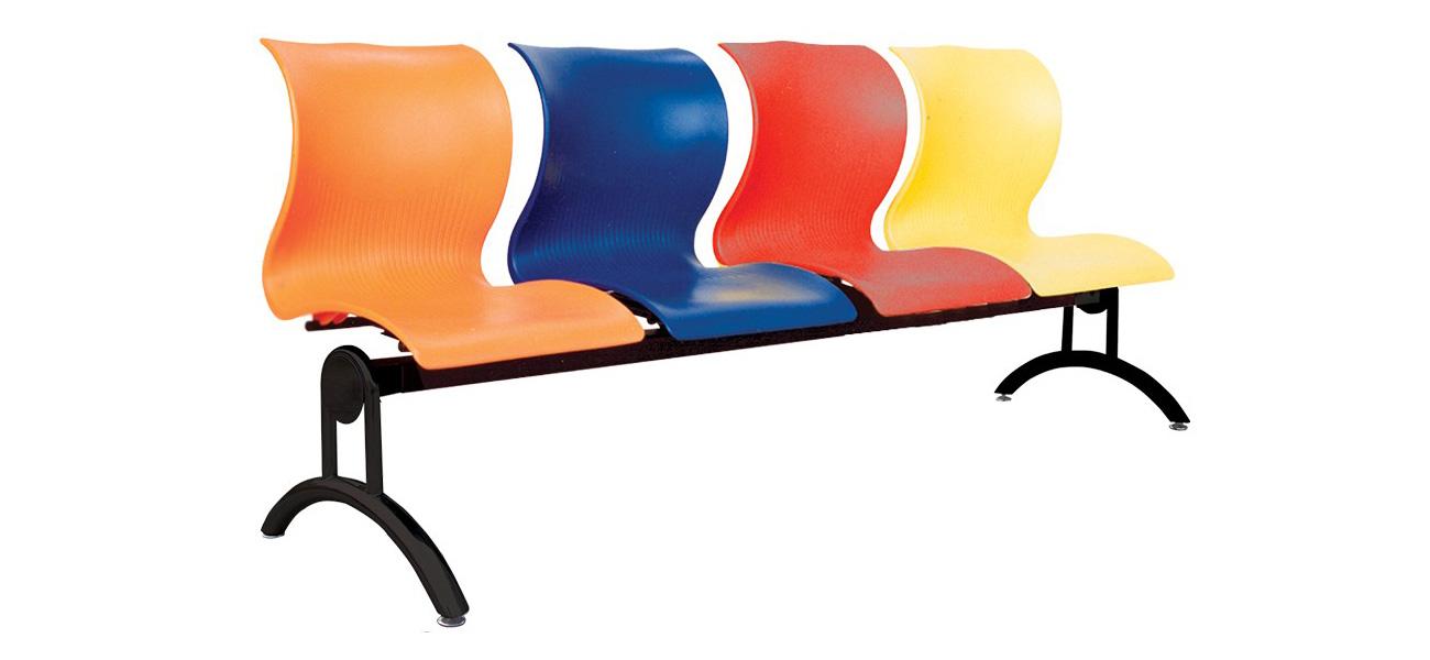 ghế băng dài 4 chỗ có tựa nhựa